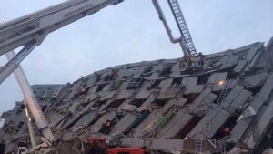 คลิปแผ่นดินไหว 6.4 เขย่าไต้หวัน โศกนาฏกรรมรับตรุษจีน