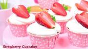 คัพเค้กสตรอเบอร์รี่ Strawberry Cupcakes (เมนูวาเลนไทน์)