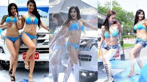 สุดซี๊ด! โชว์ล้างรถเซ็กซี่ในงาน FAST Auto Show 2016