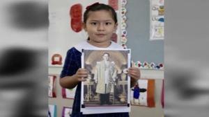 หนูน้อยลูกครึ่งไทย-ออสเตรเลียเล่าเรื่องในหลวง ร.9